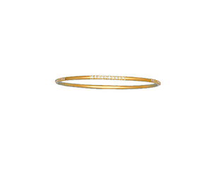 18k Yellow Gold Pave Set Diamond Bangle 0.75ctw