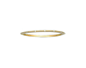 18k Yellow Gold Bar Set Diamond Bangle 0.37ctw