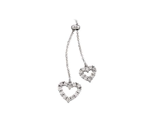 14k White Gold 1/2cttw Diamond Heart Necklace