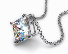 Platinum 0.75ct Diamond Pendant