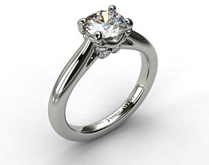 Platinum Diamond Studded Bezel Solitaire