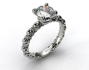 18k White Gold Tied Ribbon Engagement Ring