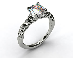 Platinum Cascading Trellis Engagement Ring