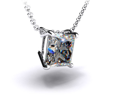18k White Gold 4 Prong Wire Basket Pendant Setting