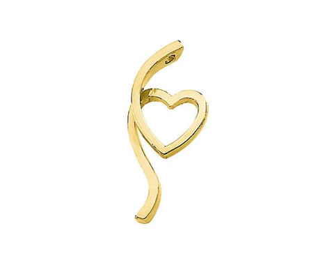14k Yellow Gold Polished Fashion Heart Pendant