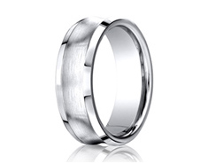 Cobaltchrome  7.5mm Comfort-Fit Satin-Finished Concave Design Ring 11553CO