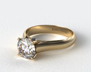 18k Yellow Gold Surprise Diamond Solitaire Engagement Ring