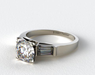 Platinum Tapered Baguette Diamond Engagement Ring