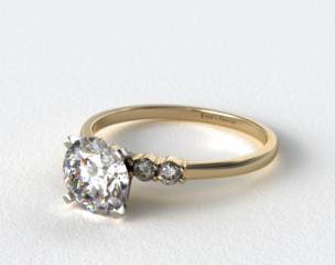 18k Yellow Gold Common Prong Diamond Engagement Ring