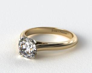 14K Yellow Gold Sleek Diamond Engagement Ring