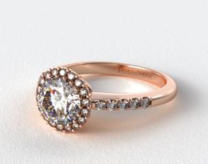 14K Rose Gold James Allen Exclusive Engagement Ring