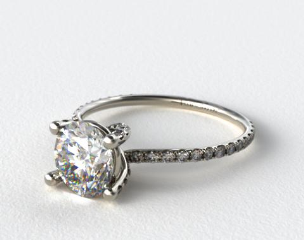 Platinum Twist Pave ZE102 by Danhov Designer Engagement Ring