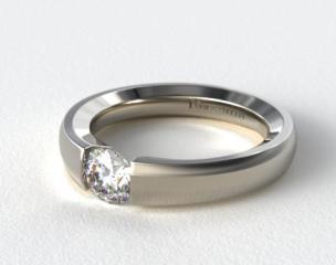 18k White Gold Contoured Tension V121 by Danhov Designer Engagement Ring