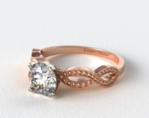 14K Rose Gold Vintage Infinity Engagement Ring