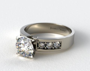 18K White Gold 0.30ct Channel Set Round Shaped Diamond Engagement Ring