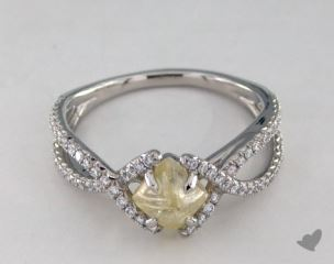 "Platinum 1.42ct diamond ""Unity ring"" featuring 0.37ctw in MicroPave diamonds"