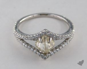 "Platinum 1.32ct diamond ""Victorian ring"" featuring 0.44ctw in MicroPave diamonds"