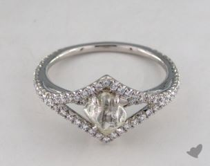 "Platinum 1.01ct diamond ""Victorian ring"" featuring 0.36ctw in MicroPave diamonds"