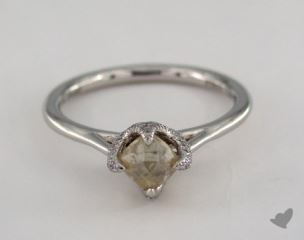 "Platinum 1.09ct diamond ""Signature ring"" featuring 0.12ctw in MicroPave diamonds"
