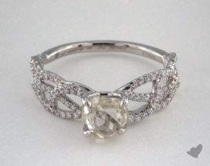 "Platinum 1.24ct diamond ""Vine ring"" featuring 0.28ctw in MicroPave diamonds"