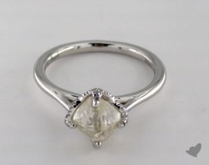 "Platinum 1.99ct diamond ""Signature ring"" featuring 0.15ctw in MicroPave diamonds"