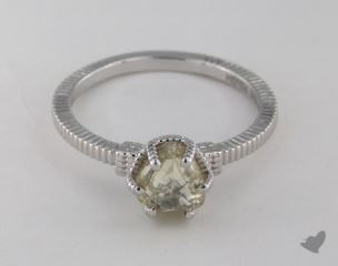"18K White Gold 1.44ct diamond ""Nouveau ring"" featuring 0.00ctw in MicroPave diamonds"