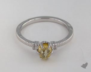 "18K White Gold 0.79ct diamond ""Nouveau ring"" featuring 0.00ctw in MicroPave diamonds"