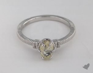"18K White Gold 0.96ct diamond ""Nouveau ring"" featuring 0.00ctw in MicroPave diamonds"
