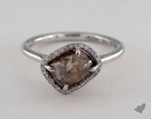 "18K White Gold 2.90ct diamond ""Grace ring"" featuring 0.09ctw in MicroPave diamonds"