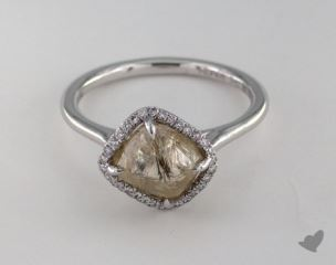 "18K White Gold 3.14ct diamond ""Grace ring"" featuring 0.09ctw in MicroPave diamonds"
