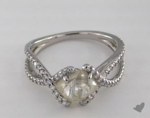 "Platinum 2.38ct diamond ""Unity ring"" featuring 0.38ctw in MicroPave diamonds"
