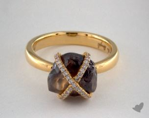 "18K Yellow Gold 5.66ct diamond ""Orielle ring"" featuring 0.18ctw in MicroPave diamonds"