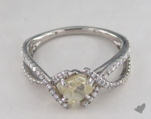"Platinum 1.32ct diamond ""Unity ring"" featuring 0.38ctw in MicroPave diamonds"