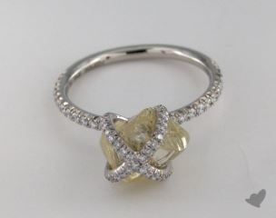 "Platinum 4.07ct diamond ""Embrace ring"" featuring 0.47ctw in MicroPave diamonds"