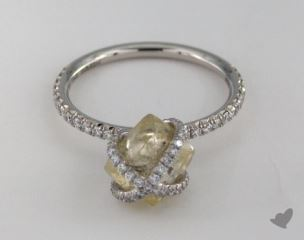 "Platinum 3.80ct diamond ""Embrace ring"" featuring 0.46ctw in MicroPave diamonds"