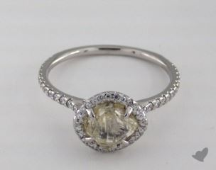 "Platinum 1.98ct diamond ""Classic ring"" featuring 0.36ctw in MicroPave diamonds"