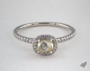 "Platinum 0.76ct diamond ""Classic ring"" featuring 0.29ctw in MicroPave diamonds"