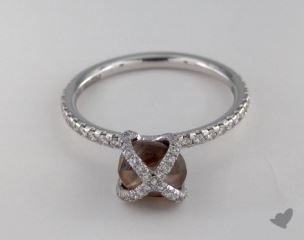 "18K White Gold 2.22ct diamond ""Embrace ring"" featuring 0.39ctw in MicroPave diamonds"