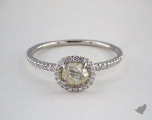 "Platinum 0.68ct diamond ""Classic ring"" featuring 0.31ctw in MicroPave diamonds"