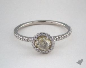 "Platinum 0.80ct diamond ""Classic ring"" featuring 0.31ctw in MicroPave diamonds"