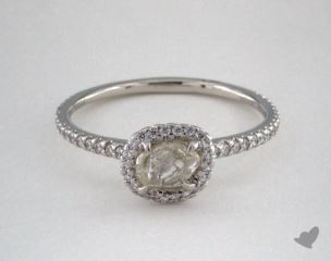 "Platinum 0.79ct diamond ""Classic ring"" featuring 0.32ctw in MicroPave diamonds"