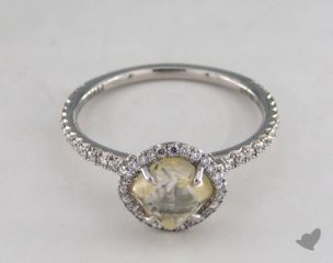"Platinum 1.77ct diamond ""Classic ring"" featuring 0.29ctw in MicroPave diamonds"