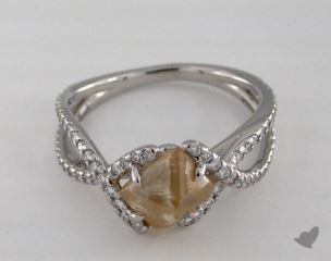 "Platinum 2.67ct diamond ""Unity ring"" featuring 0.39ctw in MicroPave diamonds"