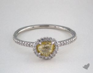 "Platinum 0.65ct diamond ""Classic ring"" featuring 0.26ctw in MicroPave diamonds"