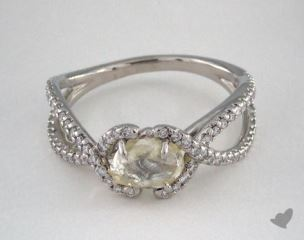 "Platinum 1.17ct diamond ""Unity ring"" featuring 0.37ctw in MicroPave diamonds"