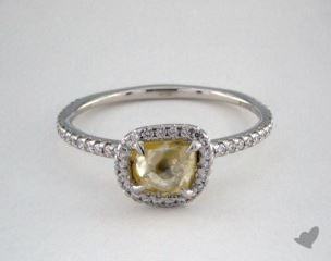 "Platinum 1.17ct diamond ""Classic ring"" featuring 0.31ctw in MicroPave diamonds"