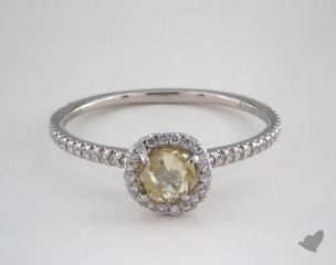 "Platinum 0.64ct diamond ""Classic ring"" featuring 0.26ctw in MicroPave diamonds"