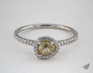 "Platinum 0.61ct diamond ""Classic ring"" featuring 0.28ctw in MicroPave diamonds"