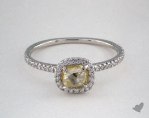 "Platinum 0.81ct diamond ""Classic ring"" featuring 0.27ctw in MicroPave diamonds"