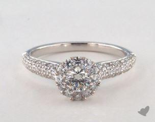 Royal Halo Three Row Pave Engagement Ring